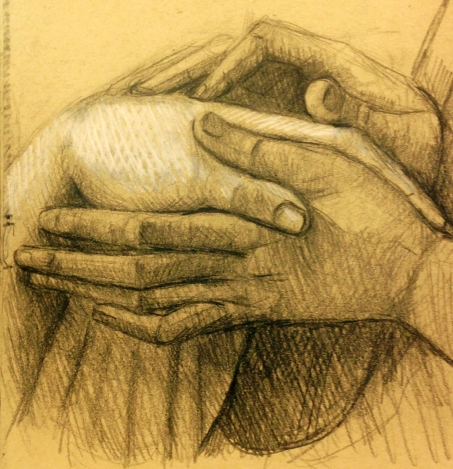 Bellini hands, Vatican museum
