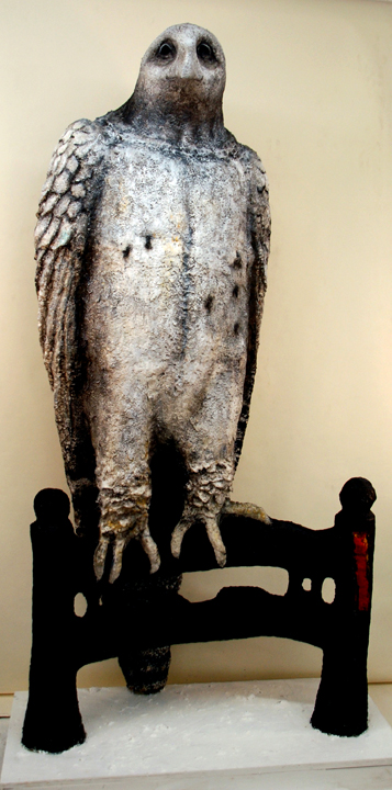 """I'm reading them again, the ones you didn't burn: Paper cast from letters of prisoners, 70x36x24"""""""