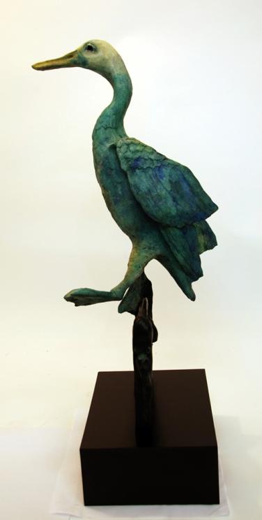Birds fly from my head, bronze, 20x10x7