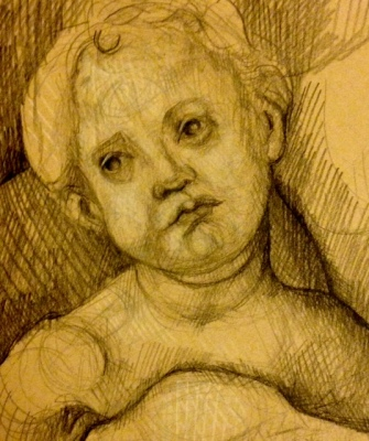 Sketching at the Uffizi Gallery