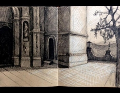 Mexican sketch, 4 (Another church)