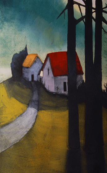 """Moon over Stanley Point 37x29"""""""