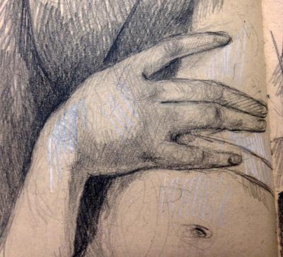 The Madonna's hand
