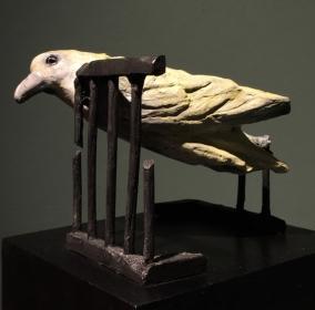 Ziegler, Critique of flight, bronze, 2016, 10x8x8