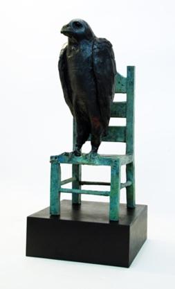 "State of waiting, bronze, 20x10x9"""