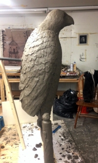 Took tail off to start making the rubber and plaster molds