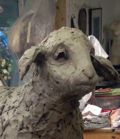 portrait of life-size sheep