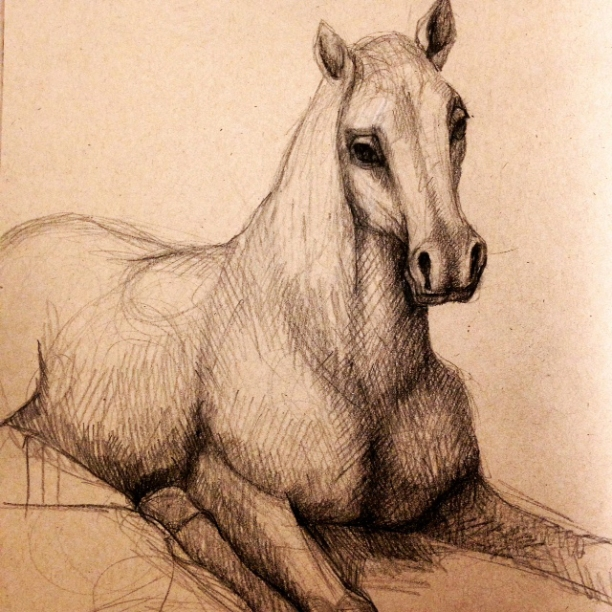 Goya;s sad horse